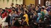 Mantan Gubernur DKI Jakarta, Basuki Tjahaja Purnama atau Ahok menghadiri pelantikan Presiden dan Wapres 2019 di Gedung MPR/DPR/DPD RI, Senayan, Jakarta, Minggu (20/10/2019). Jokowi-Ma'ruf Amin resmi dilantik sebagai Presiden dan Wapres RI periode 2019-2024. (Liputan6.com/Johan Tallo)