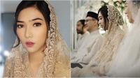 Gaya Isyana Sarasvati dalam pengajian pernikahan (Sumber: Instagram/thebridestory)