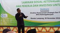 Sebagai wujud penyelenggaran jaminan sosial ketenagakerjaan, BPJS Ketenagakerjaan terus menggalakkan sosialisasi 4 program perlindungannya, kali ini di Universitas Islam Negeri Raden Intan Lampung,