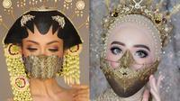 Pengantin Wanita Pakai Masker Unik di Tengah Corona (Sumber: Instagram/