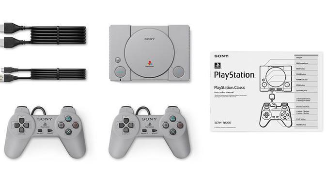 Isi di dalam kotak penjualan PlayStation Classic. (Doc: Sony)