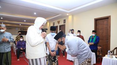 Menteri Agama (Menag) Yaqut Cholil Qoumas menemui para kiai.