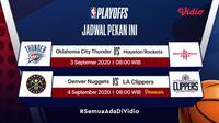 Jadwal playoff dan semifinal NBA di Vidio. (Foto: Vidio)