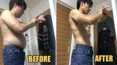 pria turunkan 13kg