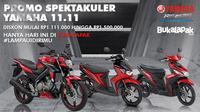 Asiknya dapat cashback 1,5 jt kalau beli motor Yamaha di Bukalapak.com.