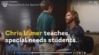 Chris Ulmer, guru anak berkebutuhan khusus melontarkan pujian untuk kemajuan kemampuan komunikasi mereka. (sumber. Facebook)