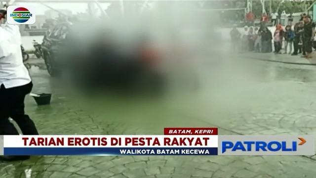 Polresta Barelang tetapkan 5 orang tersangka terkait kasus pornografi tarian erotis di Lapangan Engku Putri Pemko Batam.
