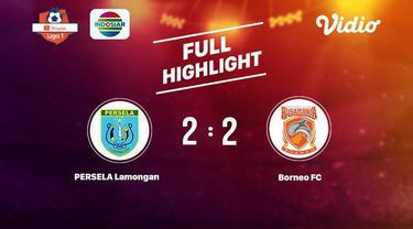 Laga lanjutan Shopee Liga 1, Persela VS Borneo berakhir berimbang 2-2 #shopeeliga1 #Persela #Borneo