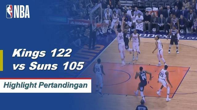Buddy Hield mencetak 20 poin dan De'Aaron Fox menambahkan 16 dengan tujuh assist saat Kings meniup Suns di jalan, 122-105.