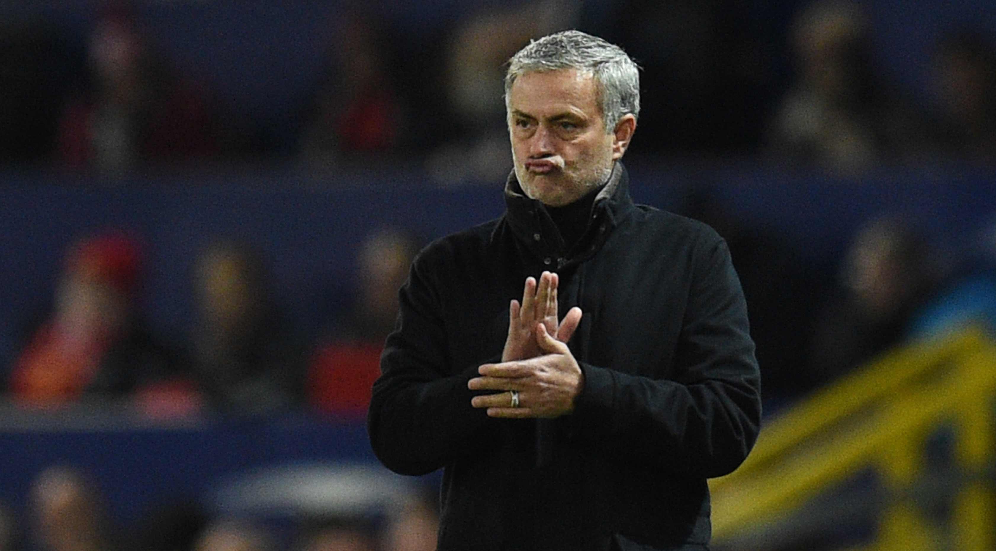 Pelatih Manchester United, Jose Mourinho (AFP Photo/Oli Scarff)