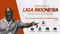 Starting XI terbaik Liga Indonesia 10 tahun terakhir versi Bola.com (Bola.com/Adreanus Titus)