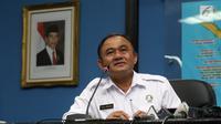 Kepala BNN Irjen Pol Heru Winarko memberi sambutan dalam acara Kenal Pamit di Gedung BNN, Cawang, Jakarta, Senin (5/3). Heru menggantikan Komjen Pol Budi Waseso atau Buwas yang mulai pensiun. (Liputan6.com/Arya Manggala)