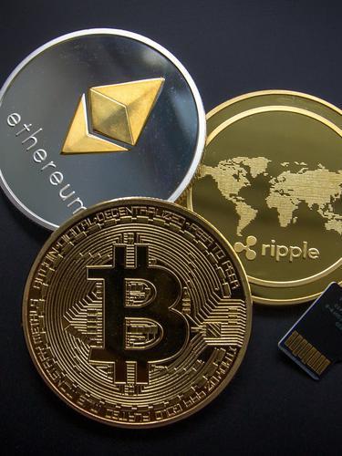 Ilustrasi aset kripto, mata uang kripto