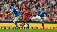 Derby Merseyside antara Liverpool vs Everton (PAUL ELLIS / AFP)