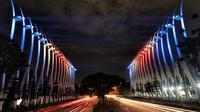 Lampu Gerbang Kemayoran Bertema Bendera Selandia Baru (dok.istemwa)