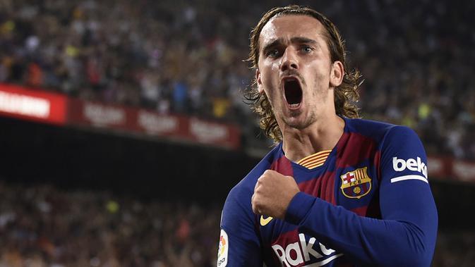 2. Barcelona (255 juta euro) - Pembelian Antoine Griezmann, Frenkie de Jong, Neto, Junior Firpo. (AFP/Josep Lago)