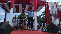 AHY menghadiri kampanye Prabowo Sandi di Solo.