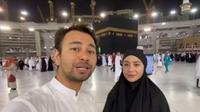 Raffi Ahmad dan Nagita Slavina berulang tahun di depan Ka'bah (Instagram/raffinagita1717)