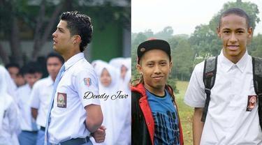 6 Editan Foto Jika Pesepak Bola Pakai Seragam Sekolah di Indonesia, Kocak