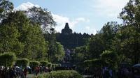 Kawasan Candi Borobudur saat dikunjungi Barack Obama, Rabu (28/6/2017). (Liputan6.com/Fajar Abrori)