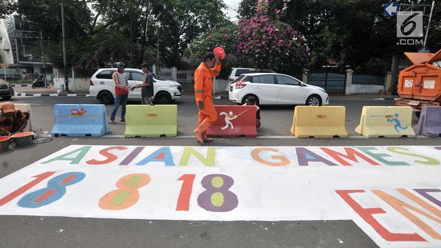 Logo Raksasa Asian Games 2018 Hiasi Simpang Tugu Proklamasi