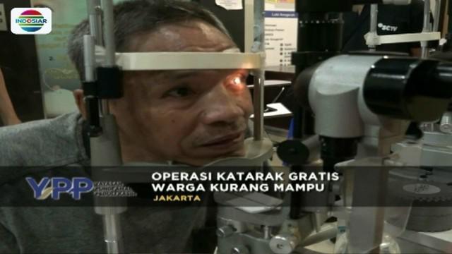 Yayasan Pundi Amal dan Peduli Kasih SCTV-Indosiar, kembali menggelar operasi katarak gratis pada warga kurang mampu di RSCM Kirana, Jakpus.