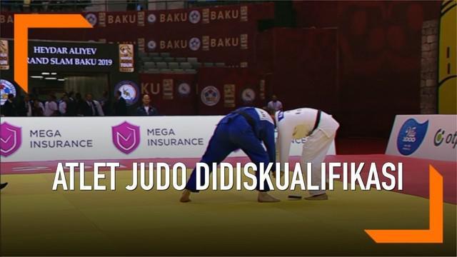 Insiden memalukan terjadi saat pertandingan judo di Baku Grand Slam 2019. Hp salah satu pemain judo terjatuh di tengah pertandingan. Pemain tersebut didiskualifikasi karena membawa hp ke arena.