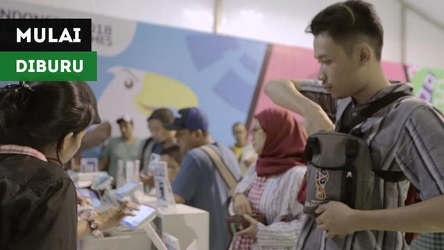 Berita video merchandise Asian Para Games 2018 yang mulai diburu masyarakat di megastore di kawasan GBK (Gelora Bung Karno), Senayan, Jakarta.