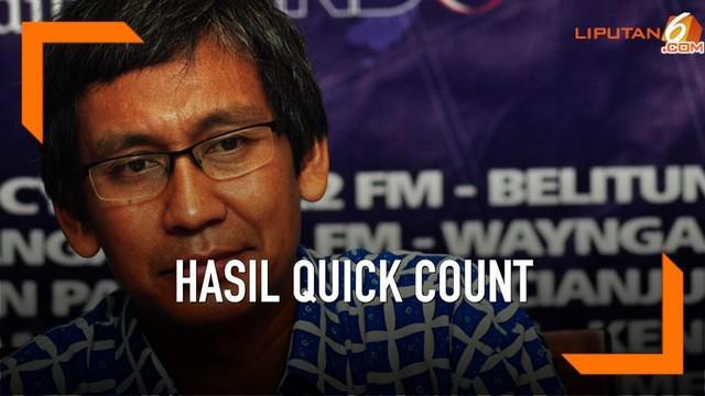 Guru Besar UI Hamdi Muluk mengatakan hitung cepat Pemilu 2019 bisa dipertanggung jawabkan hasilnya. Karena telah mengalami berbagai proses ilmiah.