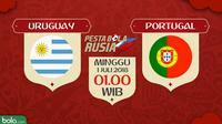 Piala Dunia 2018 Uruguay Vs Portugal (Bola.com/Adreanus Titus)