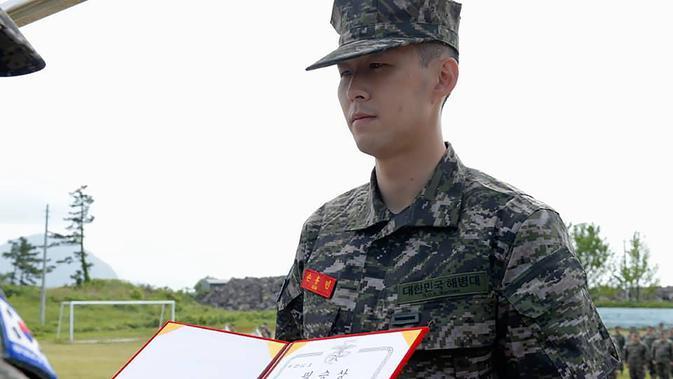 Striker Tottenham Hotspur, Son Heung Min telah selesai mengikuti program wajib militer di Korea Selatan (AFP/Handout)