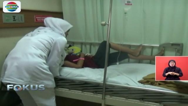 Kini bocah RH menjalani perawatan di rumah sakit karena wajahnya mengalami luka bakar.