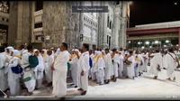 Jemaah Haji Indonesia siap melaksanakan salat Gerhana Bulan di Masjidil Haram. Dok Kemenag