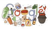 Ada Kimchi pada Google Doodle Hari Ini, Kenapa?(screen capture)