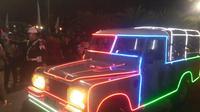 Land Rover yang digunakan Jokowi-Ma'ruf menuju KPU