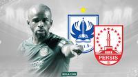 Striker Madura United, Greg Nwokolo, pernah memperkuat PSIS dan Persis. (Bola.com/Dody Irawan)