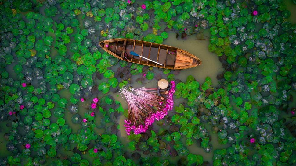 Mekong Delta, Vietnam. (Doc: Helios1412/Dronestagram)
