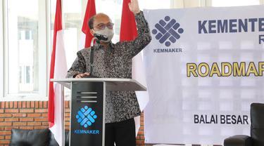 Sekretaris Jenderal Kemnaker, Anwar Sanusi, dalam sosialisasi Roadmap Reformasi Birokrasi di BBPLK Medan, Sumatera Utara