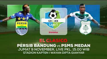 Berita video jangan lewatkan duel klasik Persib Bandung vs PSMS Medan dalam lanjutan Gojek Liga 1 2018 bersama Bukalapak hanya di Indosiar pada Jumat (9/11/2018) pukul 15.00 WIB.