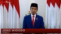 Presiden Jokowi menggelar upacara Hari Lahir Pancasila secara online, Senin (1/6/2020).