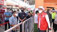 Relawan Indonesia Bersatu Lawan Covid-19 kembali menggelar kegiatan rapid test massal.