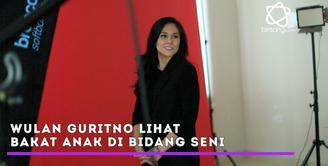 Wulan Guritno lihat bakat anak-anaknya di dunia hiburan.