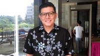 Moderator Debat Cagub DKI Putaran Ketiga, Alfito Deannova. (Liputan6.com/Fachrur Rozie)