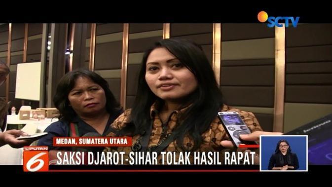 Eramas Menangi Pilkada Sumut, Saksi Djarot - Sihar Enggan ...