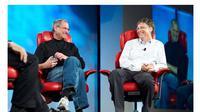 Foto: Ilustrasi Steve Jobs Vs Bill Gates (telegraph.co.uk)