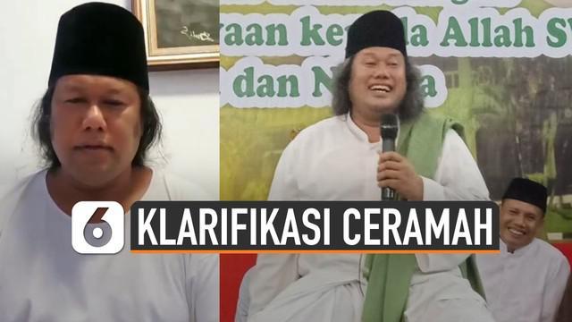 Penceramah asal Yogyakarta Ahmad Muwafiq beri klarifikasi melalui Instagram. Gus Muwafiq menjelaskan penggalan tausiyahnya di Purwodadi beberapa waktu lalu.