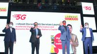 Indosat Ooredoo resmi meluncurkan layanan 5G di Jakarta, Kamis (26/8/2021). Peluncurannya turut dihadiri oleh Gubernur DKI Jakarta Anies Baswedan dan Dirjen SDPPI Kemkominfo Ismail. (Foto: Corpcom Indosat Ooredoo).