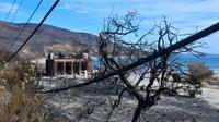 Sisa-sisa kebakaran besar di California Selatan yang berlangsung lebih dari 12 hari dan merusak 6.000 bangunan. (AFP)