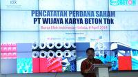 Direktur Utama BEI Ito Warsito mengatakan, masuknya perusahaan BUMN menjadi emiten di pasar modal menjadi pendorong bagi perusahaan BUMN lain untuk menyemarakkan pasar modal Indonesia Gedung BEI, Jakarta, Selasa (8/4/2014) (Liputan6.com/Faisal R Syam).