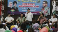 "Ketum PKB, Muhaimin Iskandar memberi sambutan saat membuka diskusi di DPP PKB, Jakarta, Minggu (23/7). Diskusi bertemakan ""Merawat Keindonesiaan Tolak Radikalisme, Lawan Intoleransi"" sekaligus rangkaian Harlah ke-19 PKB. (Liputan6.com/Faizal Fanani)"